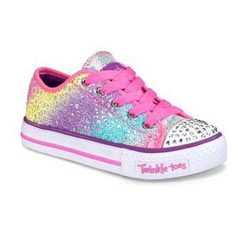 Skechers Twinkle Toes Shuffles Glitter Dayz Girls  Light-Up Sneakers ... bbe89f8d3