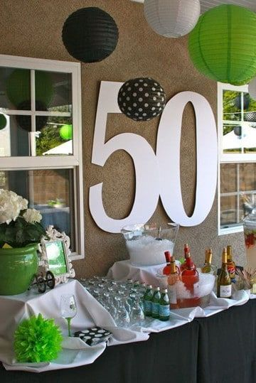Centros de mesa para 50 a os faciles de hacer mesas con - Decoracion 50 cumpleanos ...