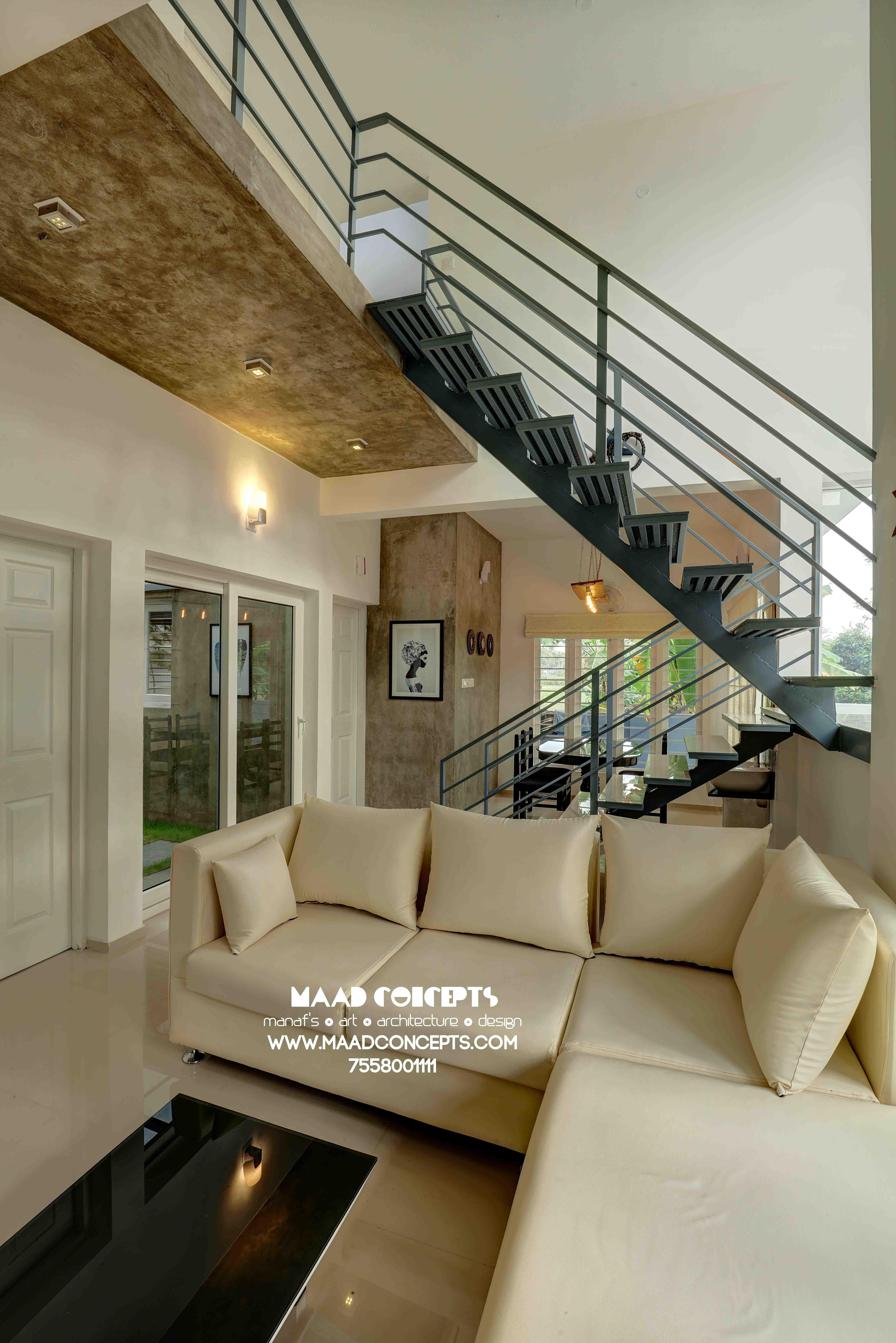 Aangan modern small house kochi kerala by designer manaf kareem
