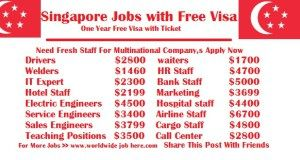 Singapore Jobs With Free Visa Job Singapore How To Apply
