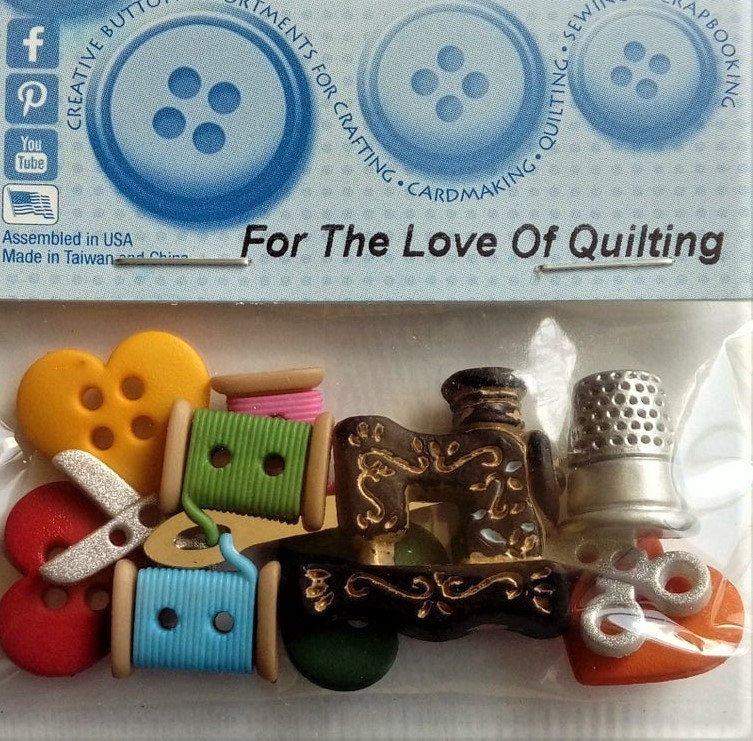 For The Love Of Quilting Dress It Up Craft Buttons Jesse James Etsy Novelty Buttons Quilt Dress Quilting Crafts