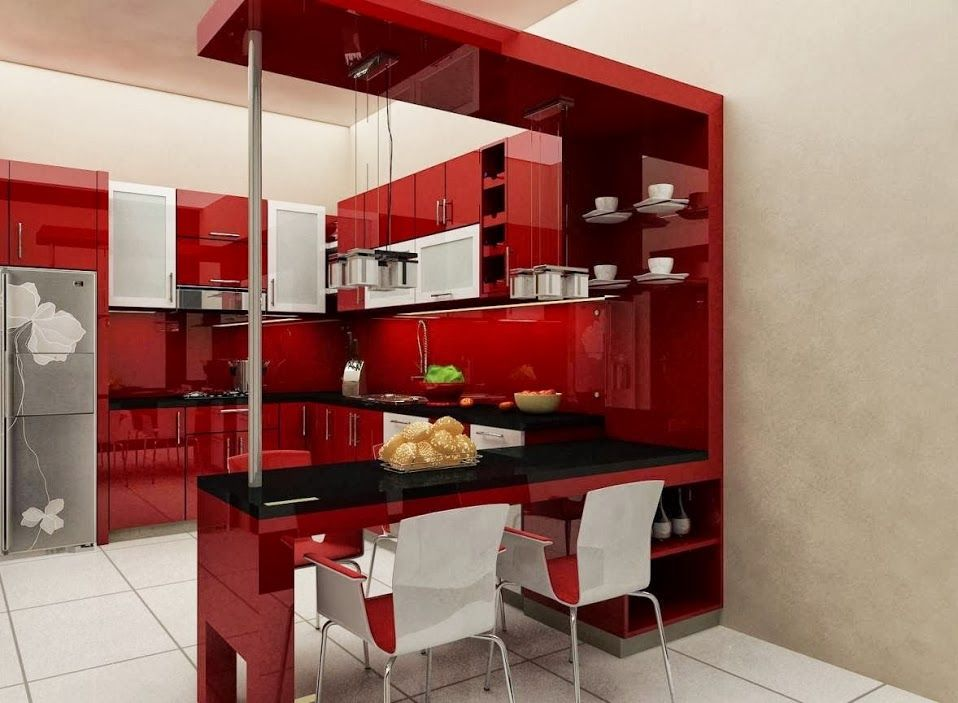 Best Small Kitchen Interior Design With Mini Bar Tablehome 400 x 300