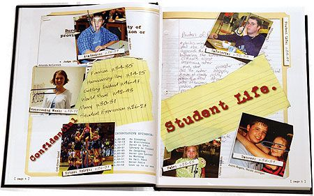 High School Yearbook Template Layout
