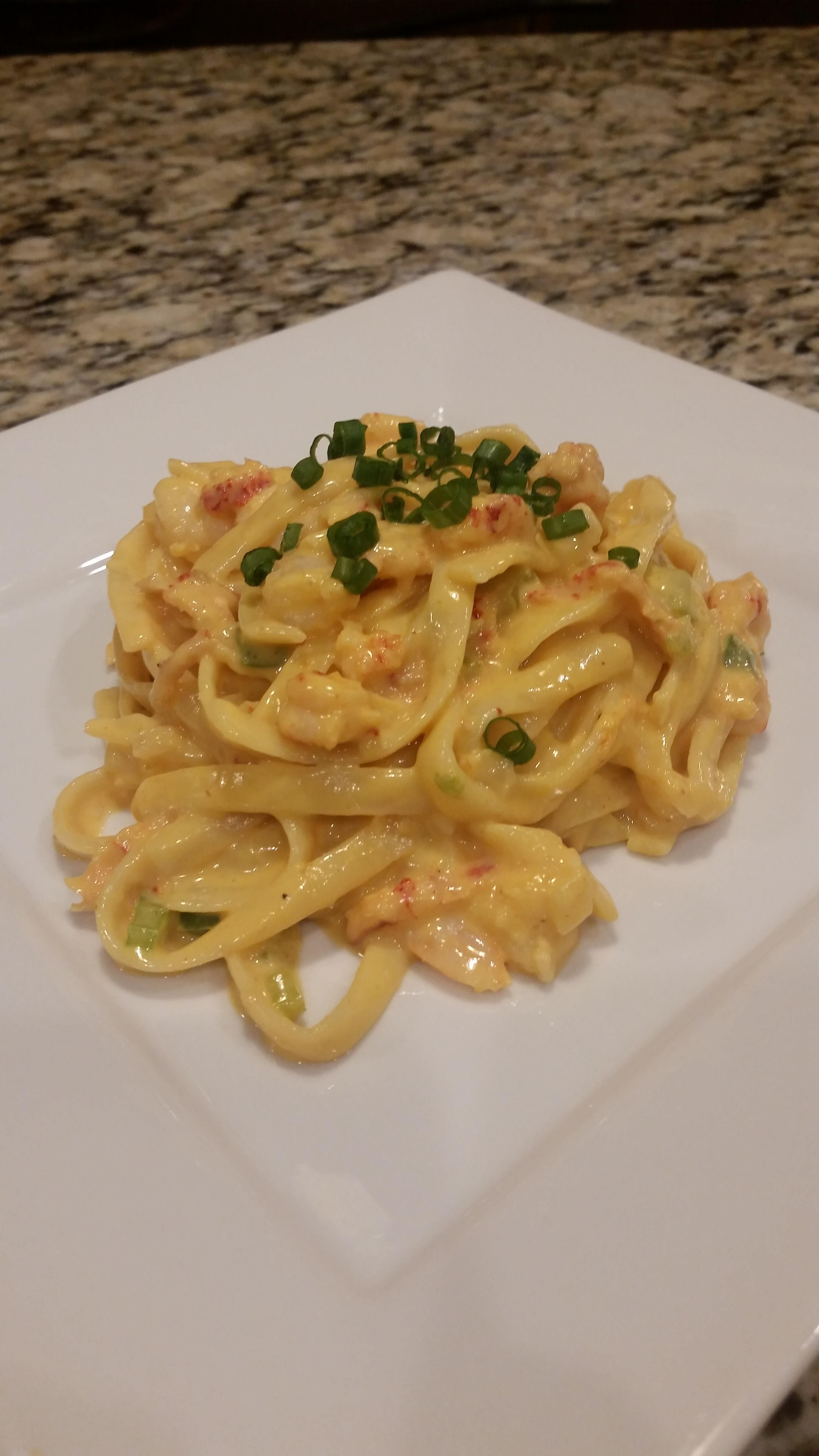how to cook crawfish fettuccine