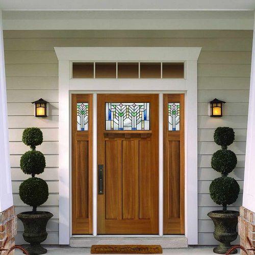 Barrington Mahogany Textured Fiberglass Door: Pella Entry Doors Images