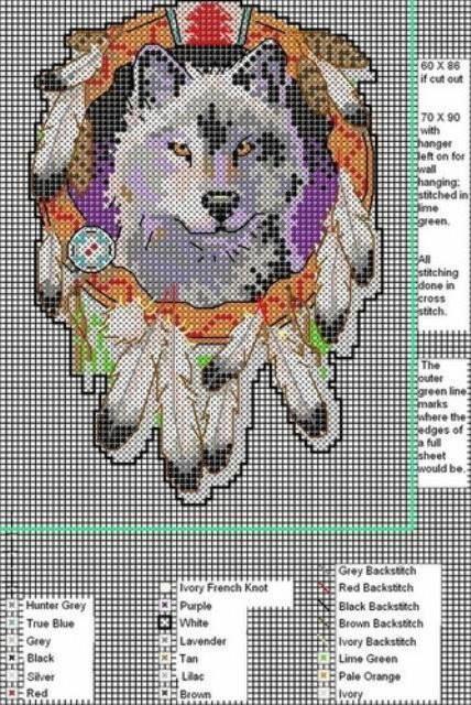 Wolf pattern | Plastic Canvas | Pinterest | Bügelperlen, Stickmuster ...