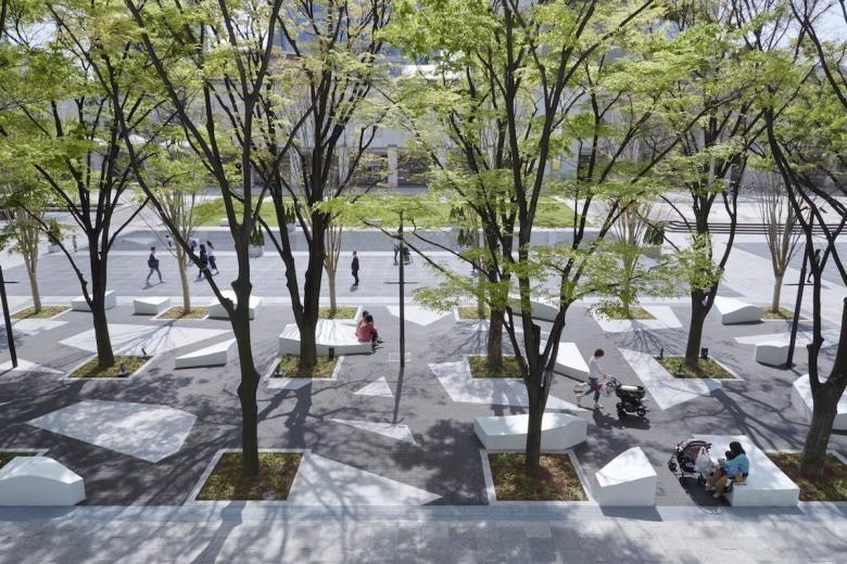Pin By Melody Lin On La Master Plan Landscape Plaza Campus Landscape Urban Landscape