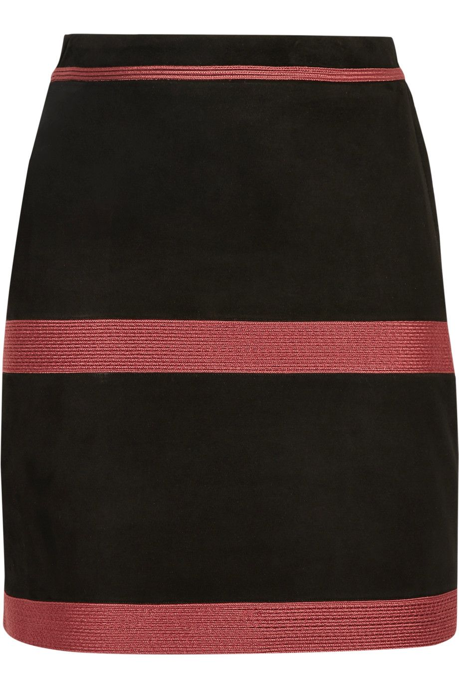 ZEUS+DIONE Zephyr Embroidered Suede Mini Skirt. #zeus+dione #cloth #