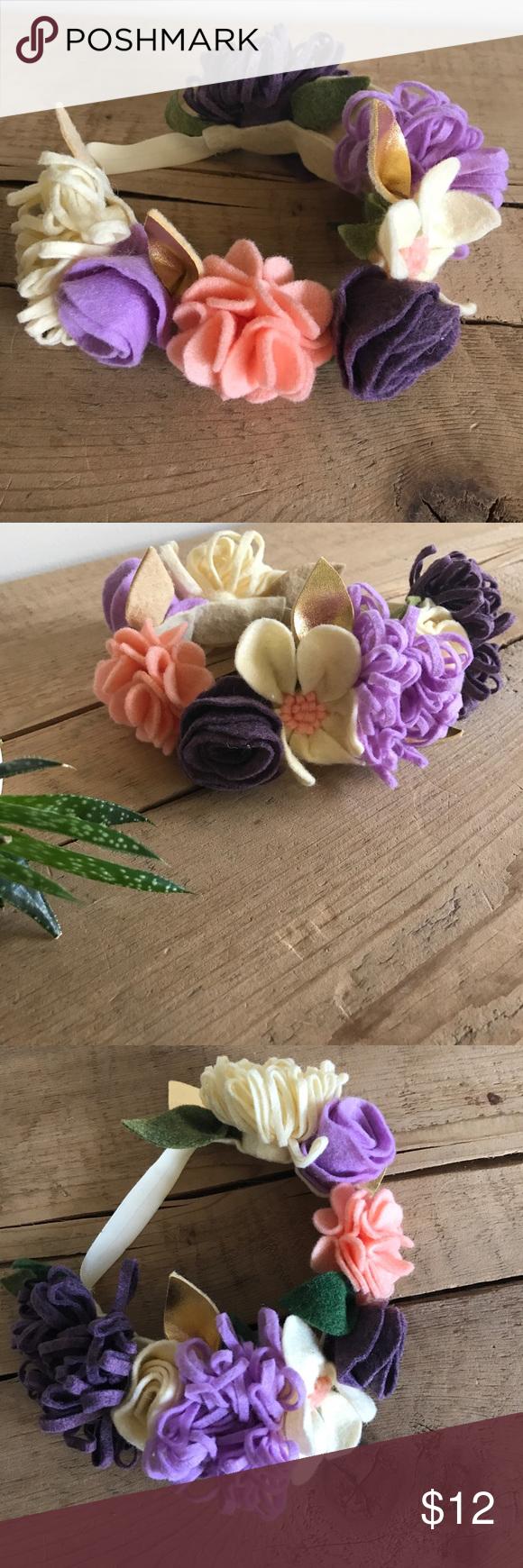 Felt Flower Headband  Felt Flower Headband #feltflowerheadbands Felt Flower Headband  Felt Flower Headband #feltflowerheadbands