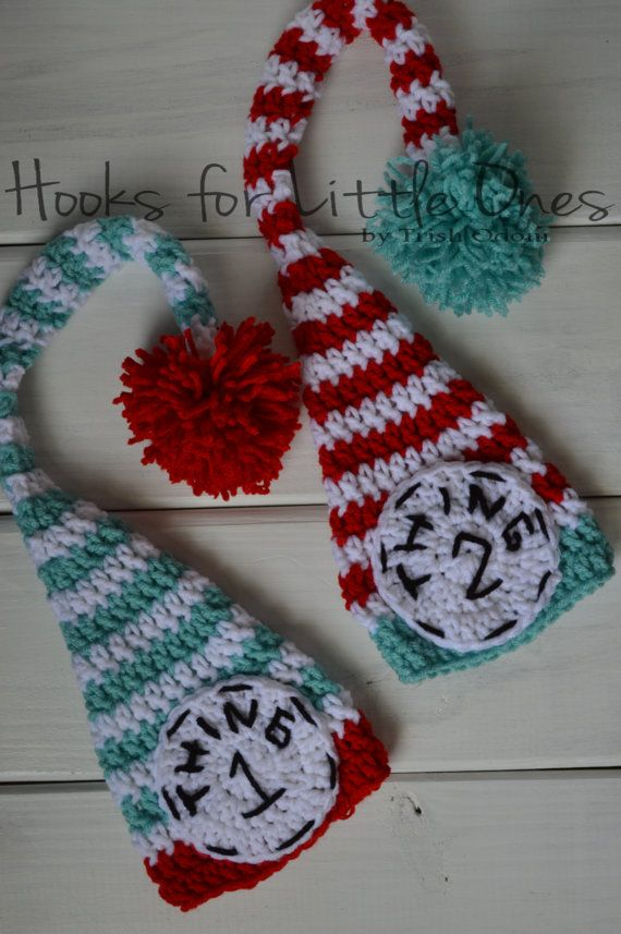 Dr. Seuss Thing 1 and Thing 2 crochet hats ONLY. | Crochet hats ...
