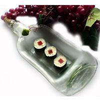 Wine bottle dish