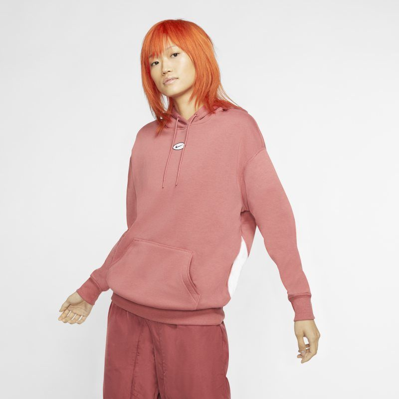 nike sportswear swoosh hoodie red