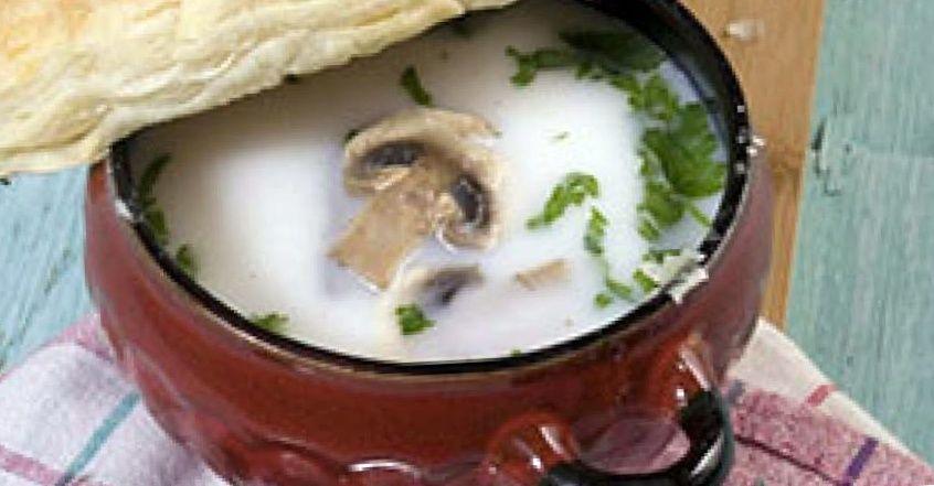 суп из слоеного теста