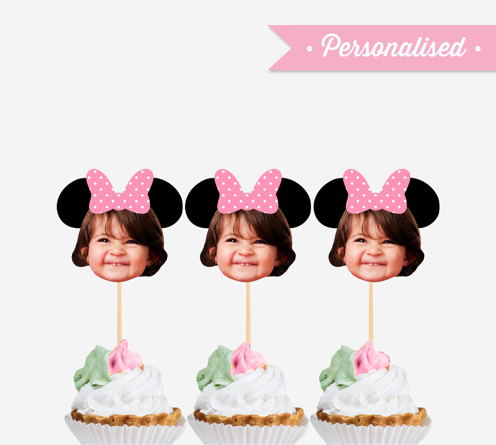 Awesome Minnie Mouse Party Printables Photo Cupcake Toppers Birthday Funny Birthday Cards Online Necthendildamsfinfo