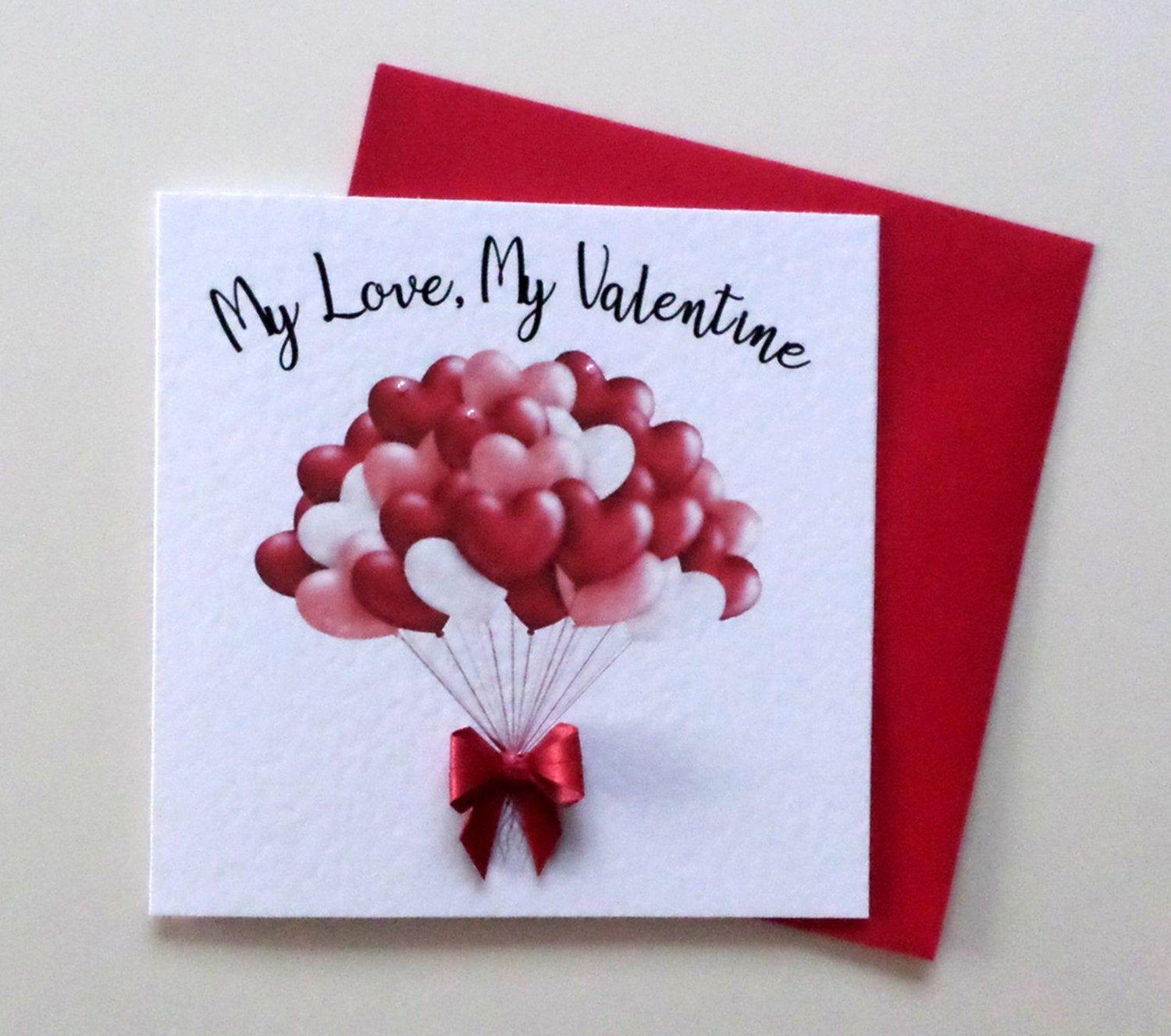valentine card with origami bow 3d valentine card  etsy