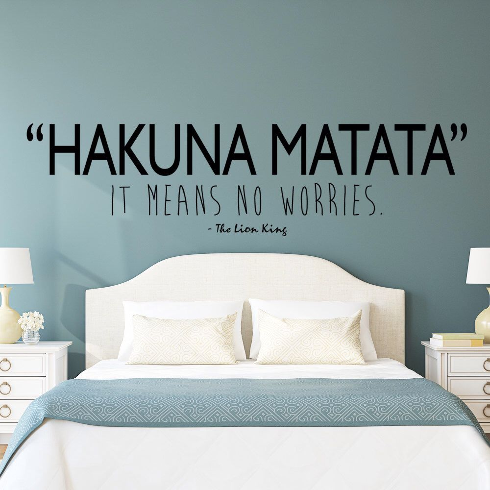 Hakuna matata lion king wall decal art quote by happywallz on etsy