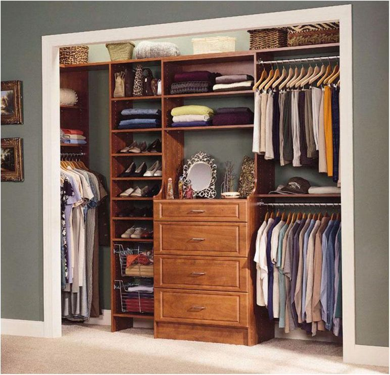 Reach in closet organization ideas coffee tables Master bedroom closet designs