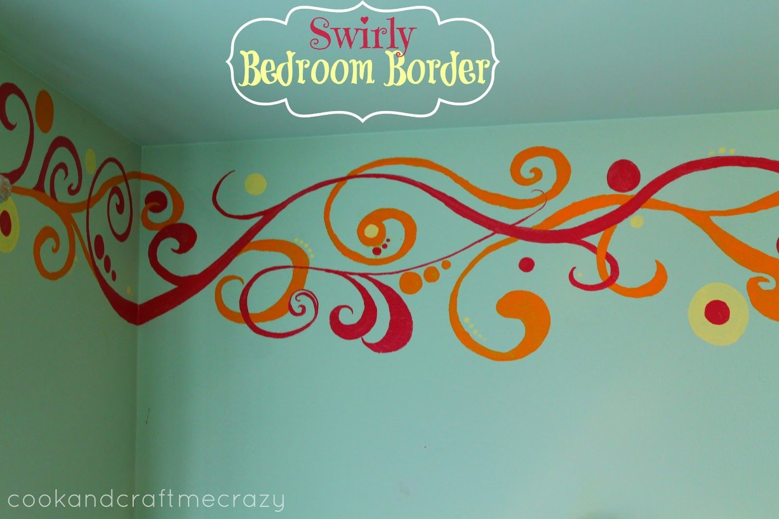 Cook And Craft Crazy Hand Sketched Painted Swirly