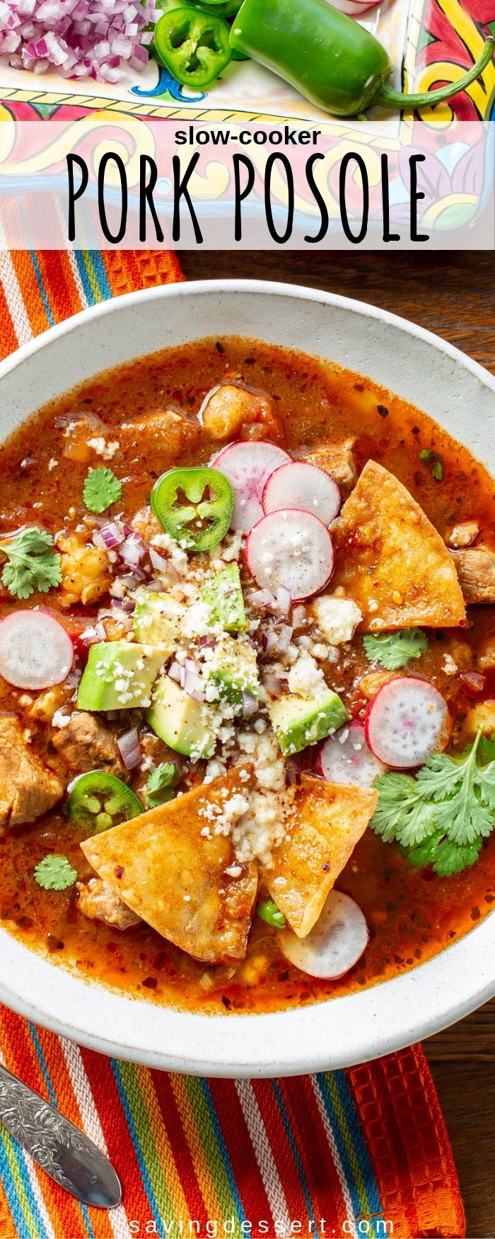 Slow-Cooker Pork Posole #slowcookerrecipes