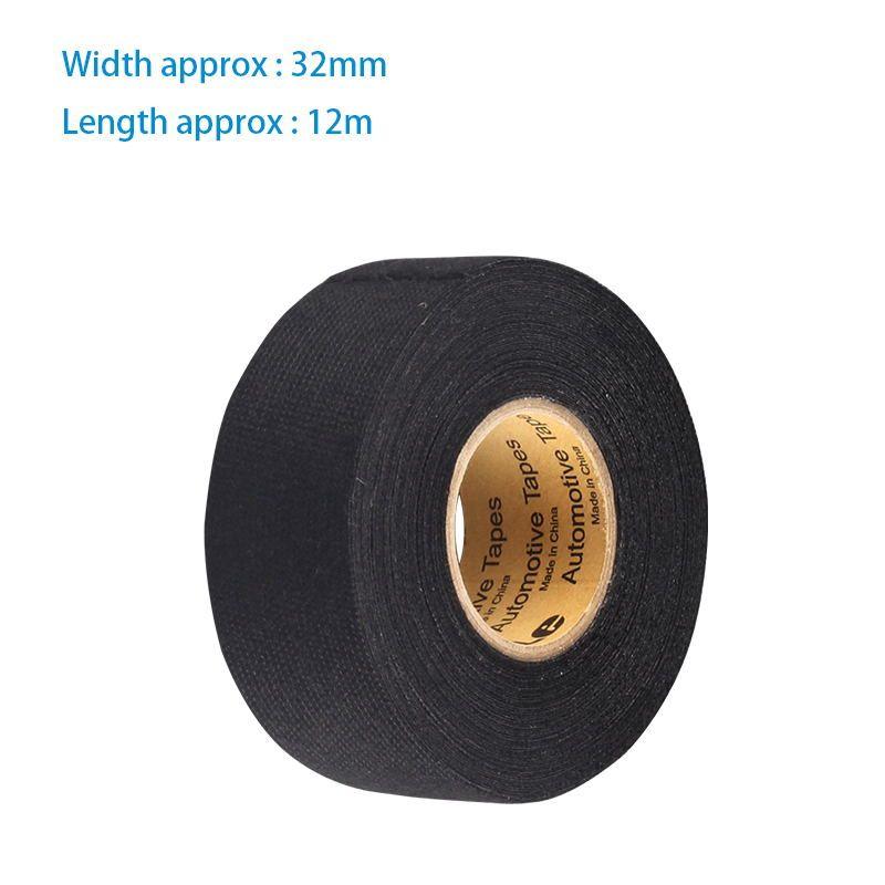 wiring harness glue 1pcs 32mm 12m fabric cloth tape automotive wiring harness glue  1pcs 32mm 12m fabric cloth tape