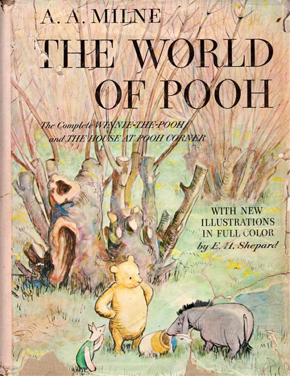 Vintage Winnie The Pooh Book Cover Art A Milne