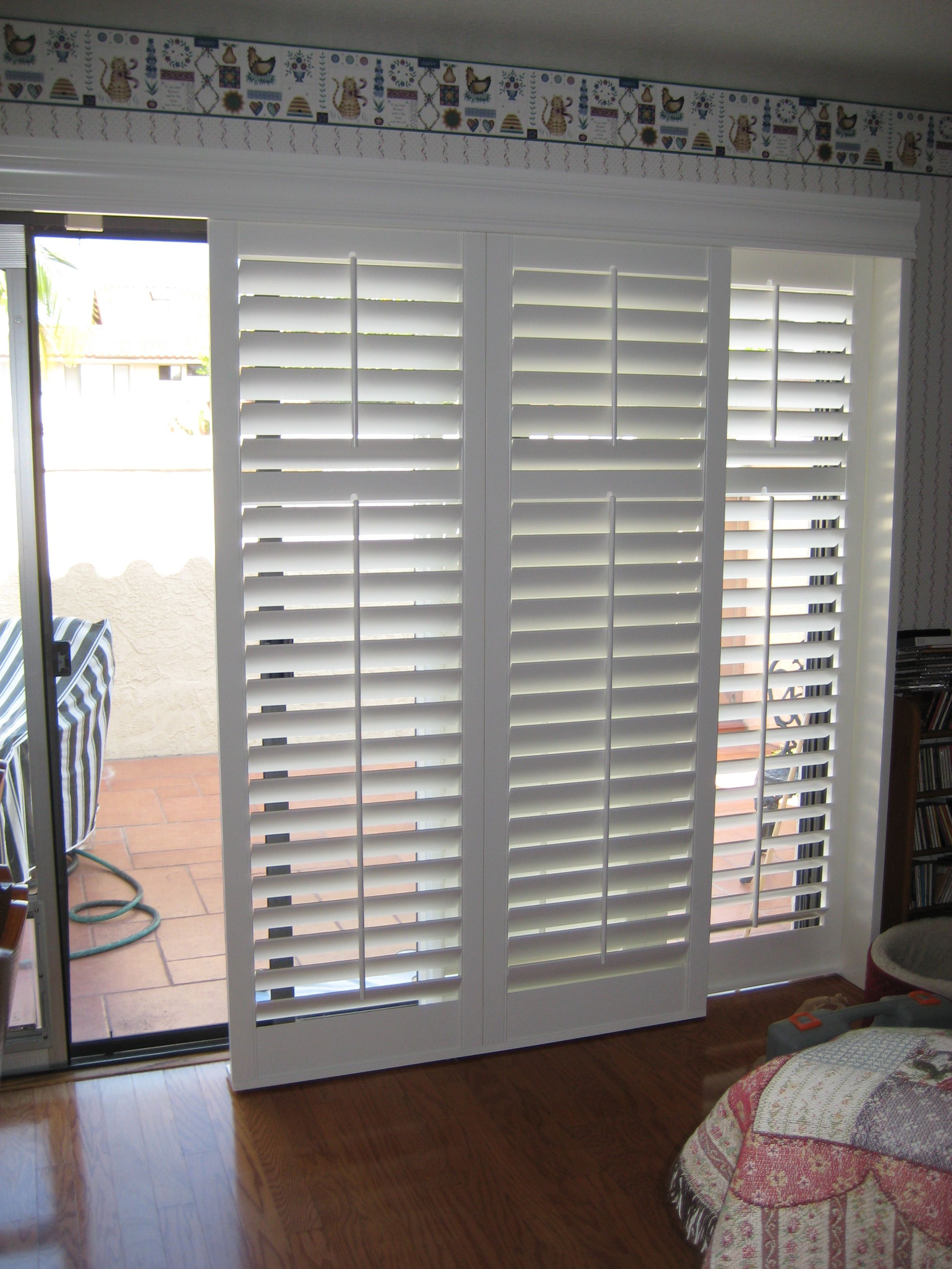 Pshutters For Sliding Glass Doors In Actionp Interior Ideas