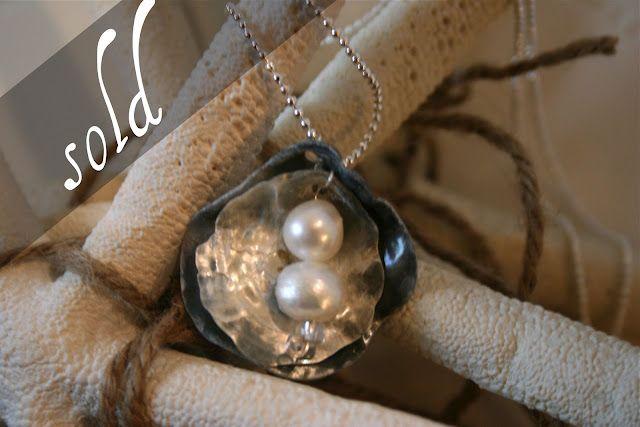 Shell & pearls necklaces - Collar concha marina y perlas