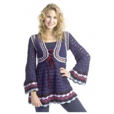 Mary Maxim Free Renaissance Tunic Crochet Pattern Patterns