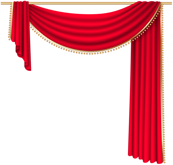 Red curtain transparent png clip art image png jpg for Theatre curtains psd