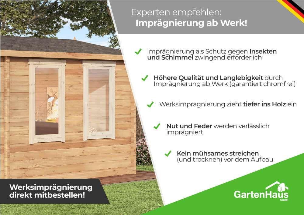 5 Eck Gartenhaus Lindau 40 Mit Anbau Gartenhaus Flachdach Gartenhaus 5 Eck Gartenhaus