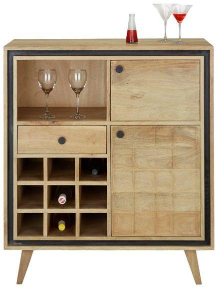 Bar aus Mangoholz in Braun - ein stilvoller Blickfang für Ihr - bar fürs wohnzimmer