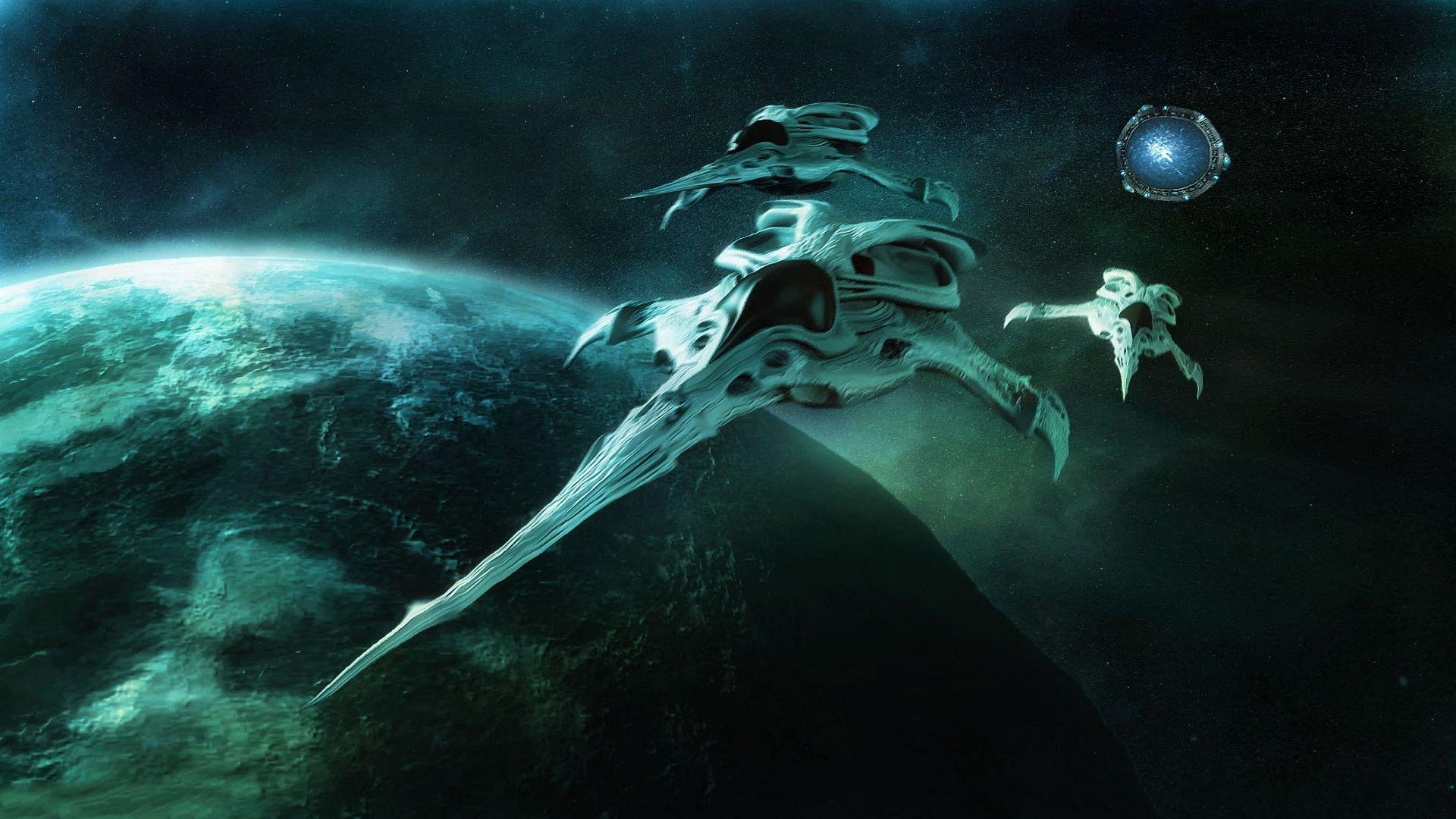 Tv Show Stargate Atlantis Wraith Wallpaper Con Imagenes Pelis Friki