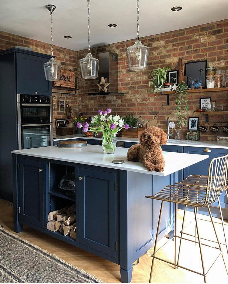 we love everything about this kitchen from the brick wall on brick wall id=12159