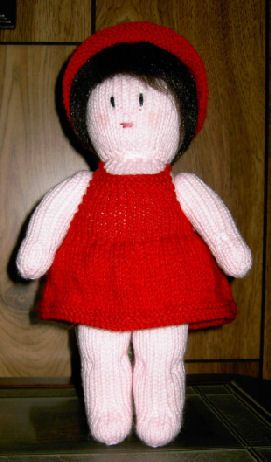 Knitting Pattern Central Free Pattern Amy Doll Sun Dress And Hat
