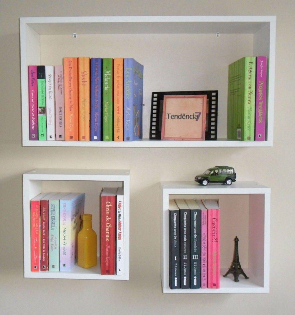 Dica De Organiza O Para Livros Nichos Organiza O Livros E  ~ Prateleira Para Livros Quarto E Cores Pra Quarto De Casal