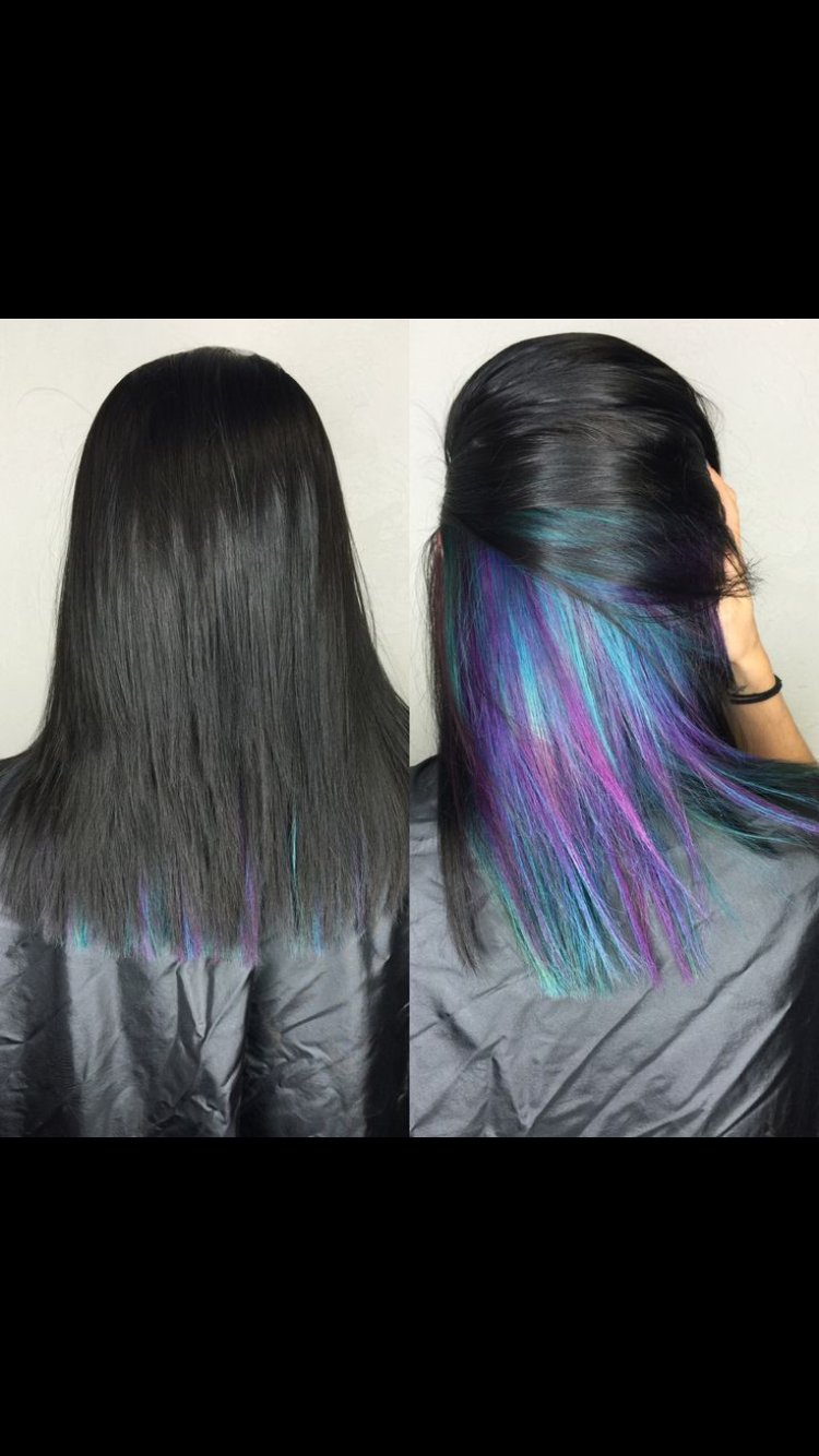 Want Underlights So Bad Underlights Hair Hair Styles Peekaboo Hair