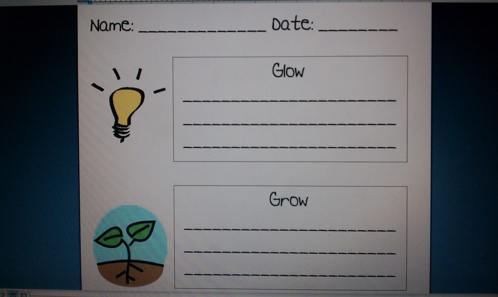 glow and grow for parent teacher conferences write ways in which