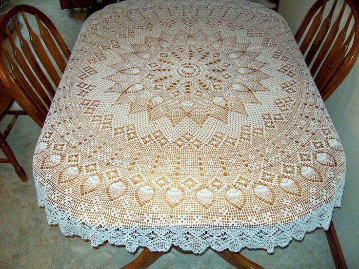 patrones de manteles cuadrados tejidos a crochet - Google zoeken ...
