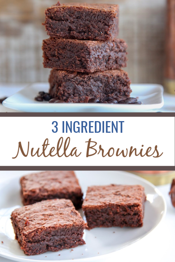 3 Ingredient Nutella Brownies | easy gluten free recipe