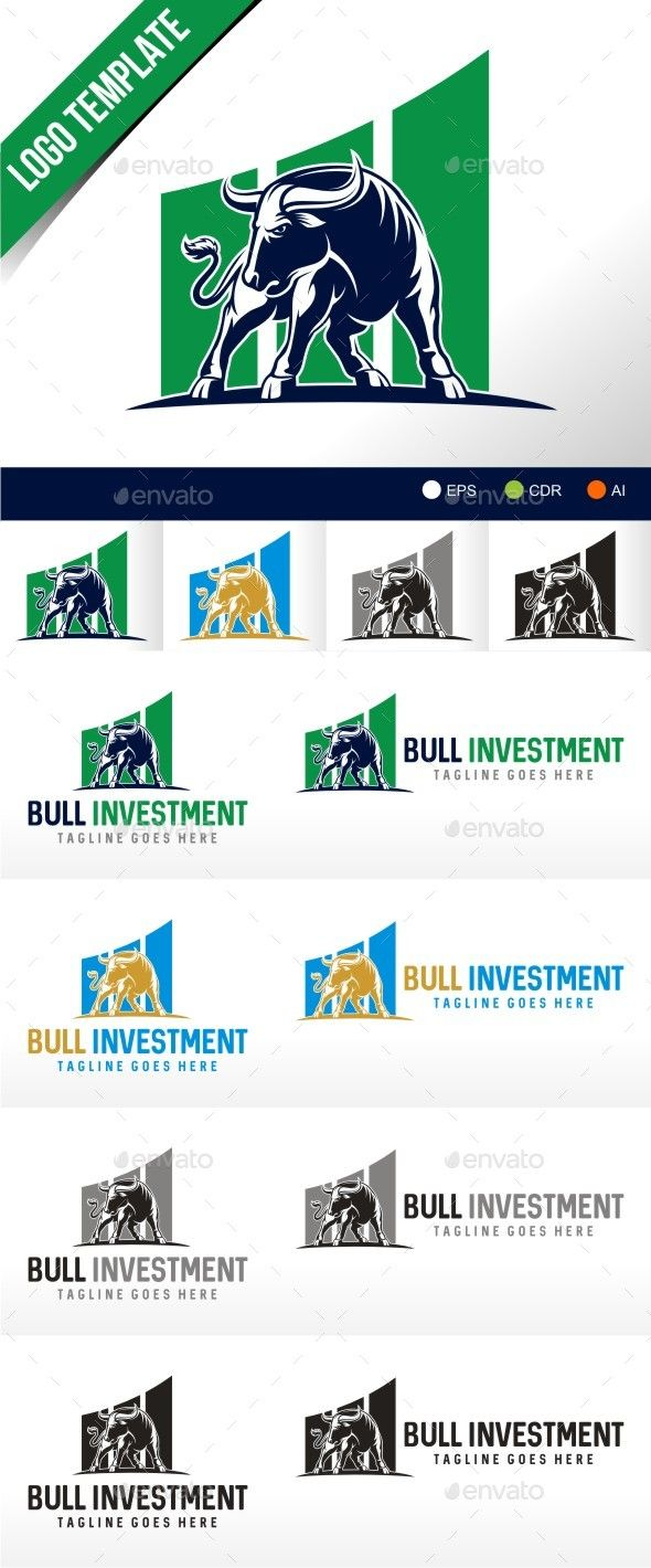 Pin by Volodya Podaiko on bull Investing, Logo design
