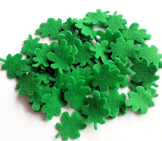 Felt leaves  Set of 50 pieces by PlanetaCostura on Etsy, €2.90