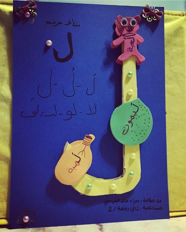 نشاط حرف اللام Letter A Crafts Learn Arabic Alphabet Learning Arabic