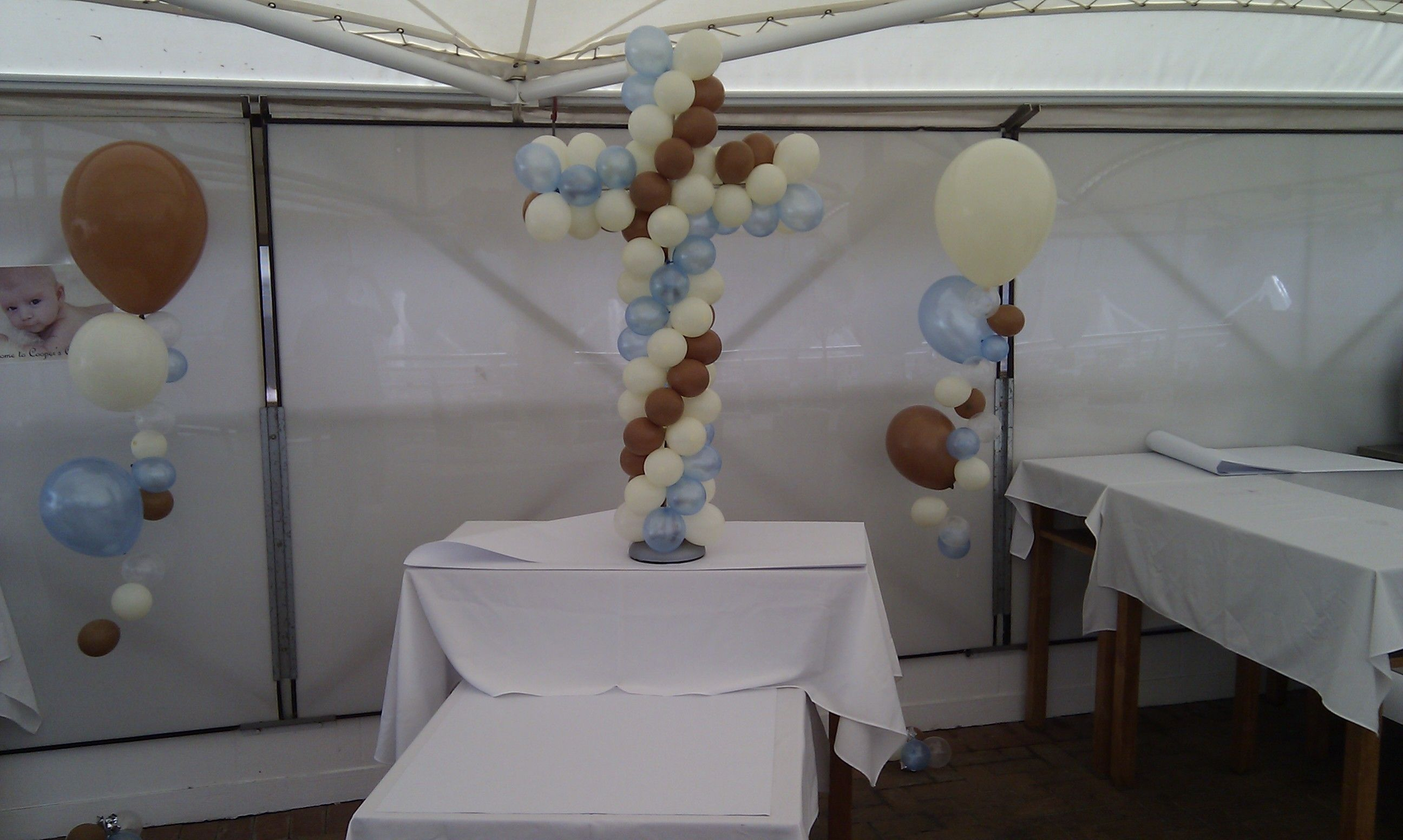 Christening balloon sculpture