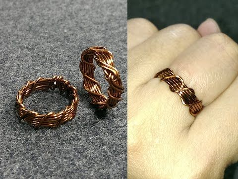 twisted ring - How to make wire jewelery 150 - YouTube