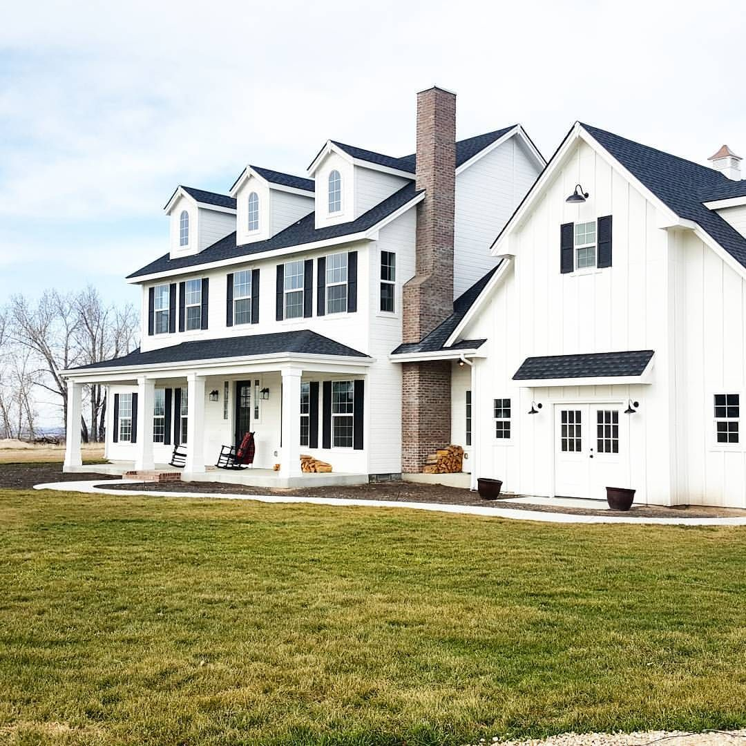 Modern Farmhouse Spring Home Decor Ideas: Pin By Matt Milby On FARMHOUSE Curb Appeal
