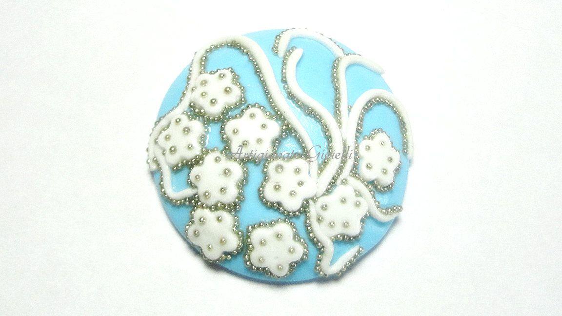 #cabochon 30mm #handmade #polymerclay http://youtu.be/zYHLHyxaQVw