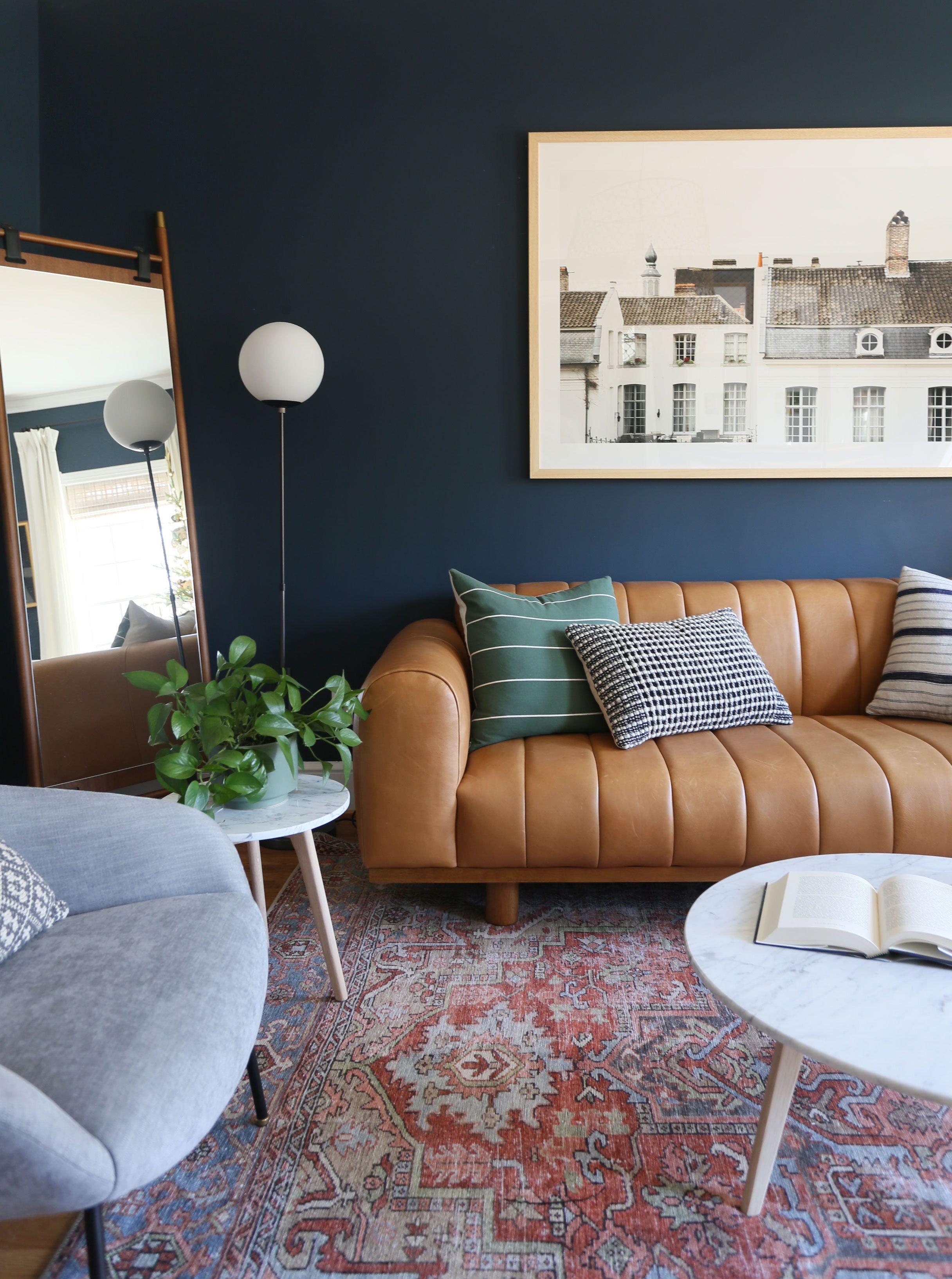 Dark And Moody Living Room Inspiration In 2020 Blue Walls Li