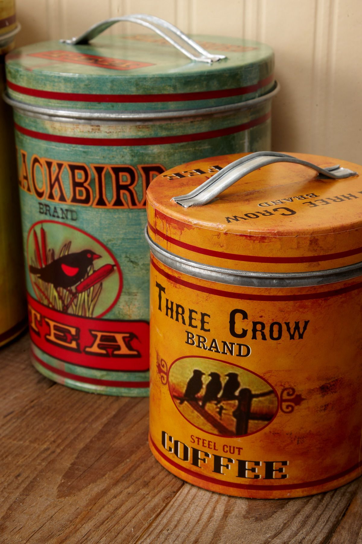 prodigious Retro Metal Canisters Part - 2: Four Retro Farmhouse Metal Canisters Canister Sets, Canisters, Save On  Crafts, Paper Lantern
