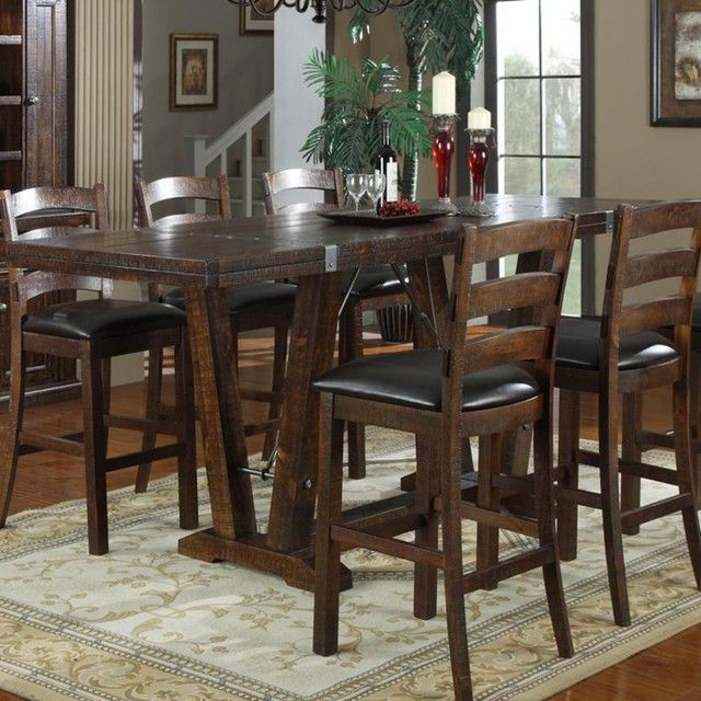 New Bar Height Dining Room Table On Tables And Modern
