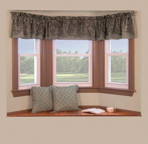Curtain Bath Outlet Bay Window Rod Window Seat Kitchen Bay